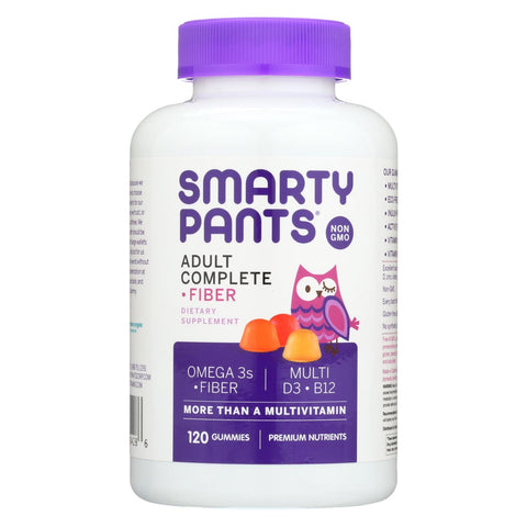 Smartypants Gummy Vitamins - Adult Complete And Fiber - 120 Count