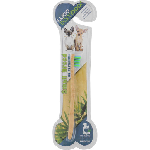 Woobamboo Pet Toothbrush - Cat And Small Breed Dog - Soft - Blue And Green - 1 Count - Case Of 12 - evoxMarket