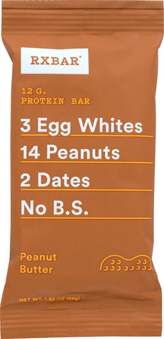 Rxbar Bar - Protein - Peanut Butter - 1.83 Oz - Case Of 12