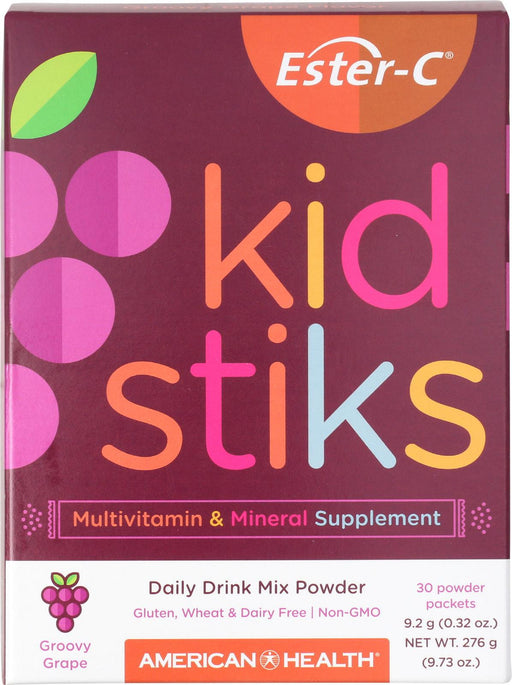 American Health - Ester-c - Kid Stiks - Groovy Grape - 30