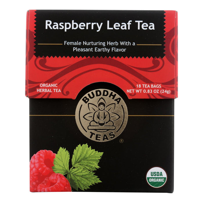 Buddha Teas - Organic Tea - Raspberry Leaf - Case Of 6 - 18 Count