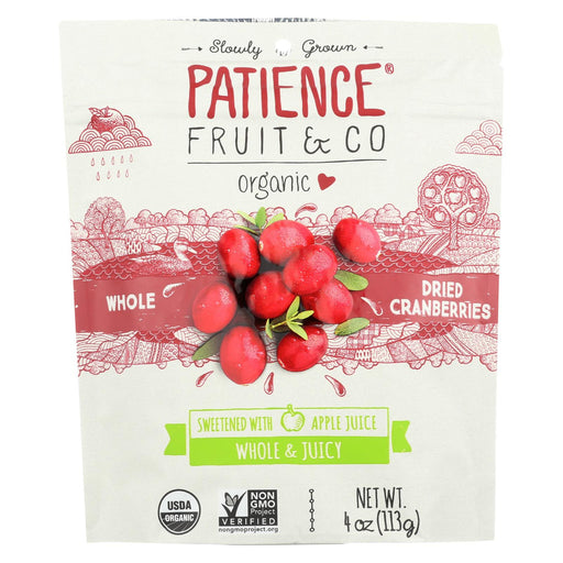 Patience Fruit And Co Whole Cranberries - Dried - Case Of 8