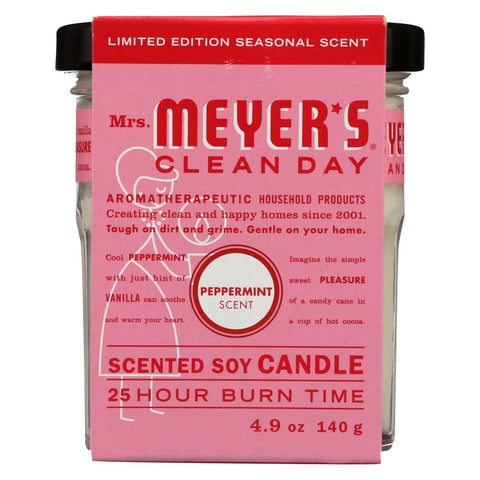Mrs. Meyers Clean Day - Soy Candle Peppermint - Case Of 6 - 4.9 Oz