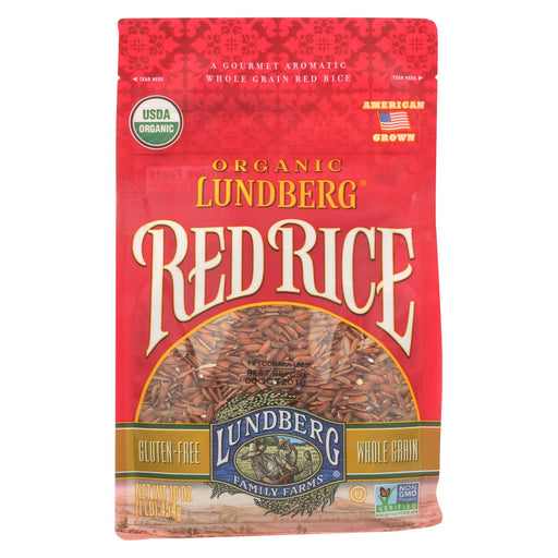 Lundberg Family Farms Organic Rice - Red - Case Of 6 - 1 Lb.