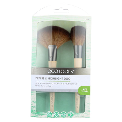 Eco Tool Makeup Brush - Define And Highlight Duo - 2 Count