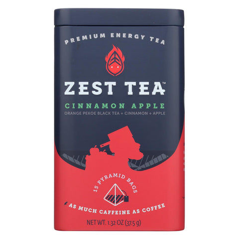 Zest Tea - Black Tea - Cinnamon Apple - Case Of 6 - 1.32 Oz.
