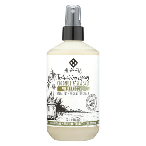 Alaffia - Everyday Texturizing Spray - Purely Coconut - 12 Fl Oz.