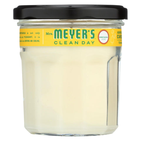 Mrs. Meyer's Clean Day - Soy Candle - Honeysuckle - Case Of 6 - 7.2 Oz