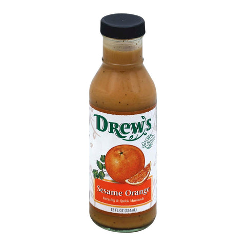 Drews All Natural Sesame Orange Dressing And Quick Marinade - Case Of 6 - 12 Fl Oz.