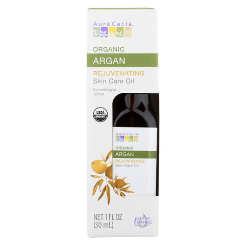 Aura Cacia Oil - Organic - Argan - Case Of 3 - 1 Fl Oz