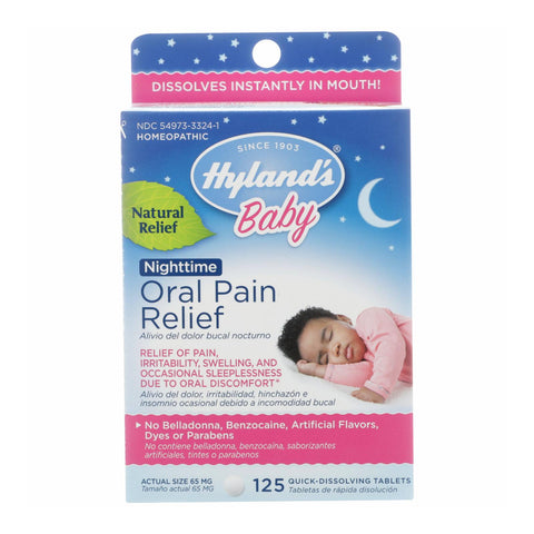 Hylands Homeopathic - Baby Night Oral Pain Relf - 1 Each - 125 Tab