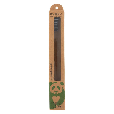 Green Panda Toothbrush - Bamboo All Natural - Case Of 12 - Count