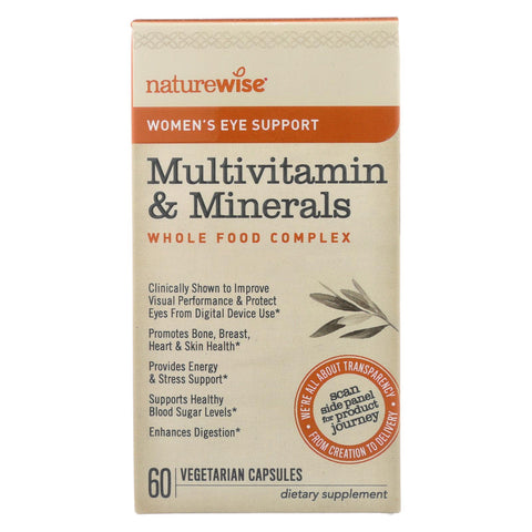 Naturewise - Women's Multivitamin And Minerals - Eye Support - 60 Vegetarian Capsules