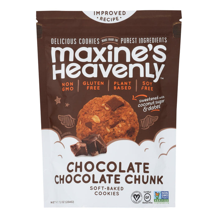 Maxine's Heavenly - Cookies Chocolate Choc Chunk - Case Of 8-7.2 Oz