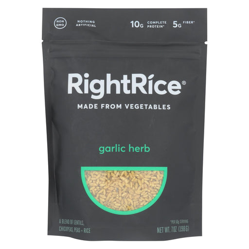 Right Rice - Made From Vegetables - Garlic Herb - Case Of 6