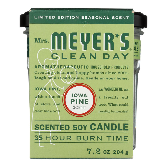 Mrs.meyers Clean Day - Soy Candle Iowa Pine - Case Of 6 - 7.2 Oz