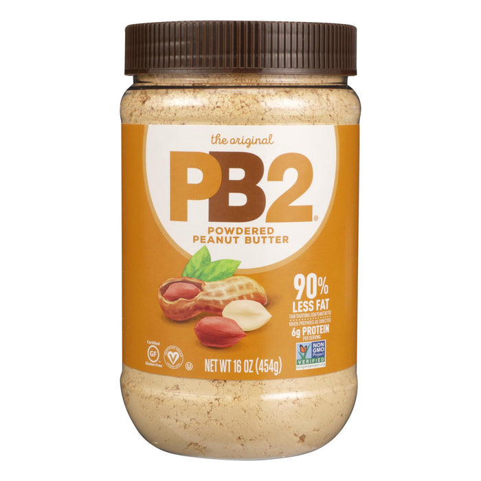 Pb2 Powdered Peanut Butter - Case Of 6 - 16 Oz