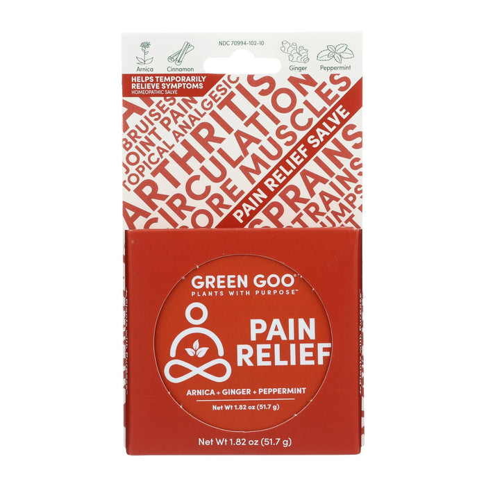 Green Goo Good Goo - Pain Relief Large Tin - Case Of 6-1.82 Oz