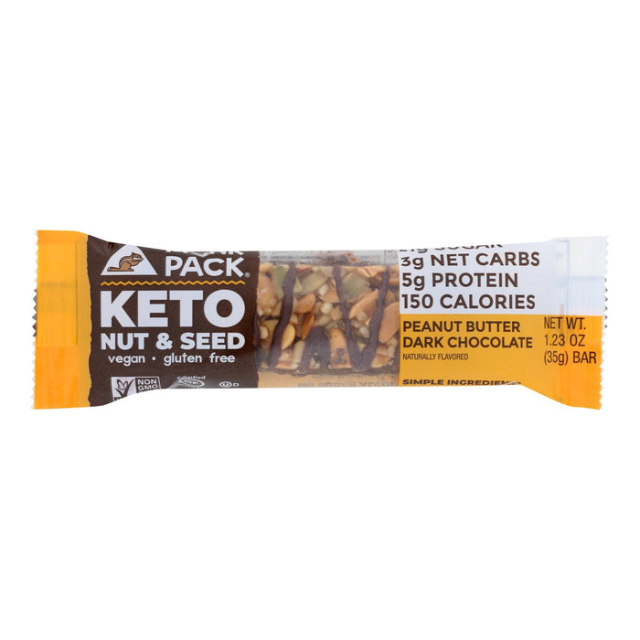 Munk Pack - Keto Nt&sd Peanut Butter Dark Chocolate - Case Of 12 - 1.23 Oz