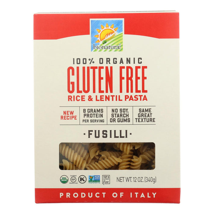 Bionaturae - Pasta Og1 Fusilli G-f - Cs Of 12-12 Oz