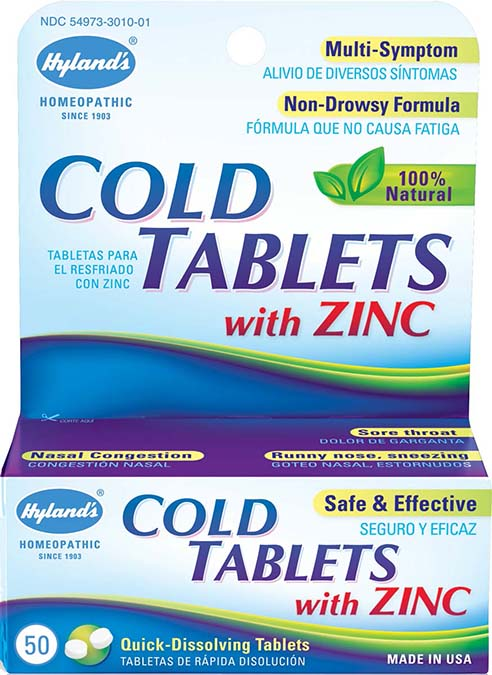 Cold Tablets W-Zinc 50 TAB
