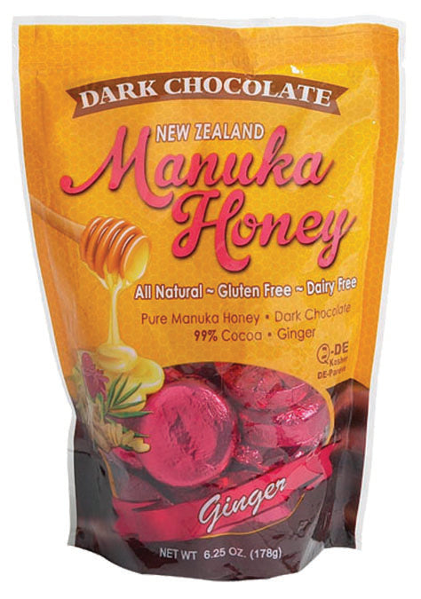 Manuka Dark Chocolate Ginger 18 CT
