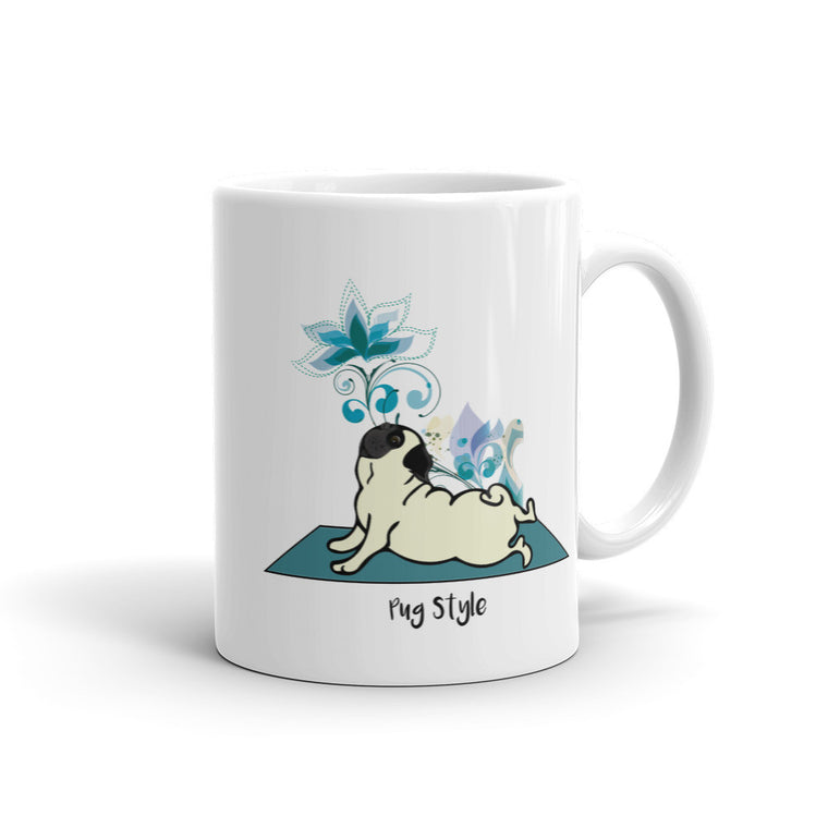 Upward Pug Mug -  Mugs - 4 Paws Merch
