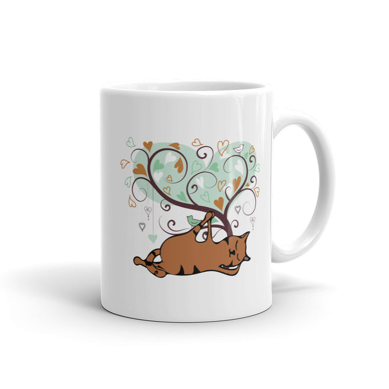Orange Cat Anantanasana Mug -  Mugs - 4 Paws Merch