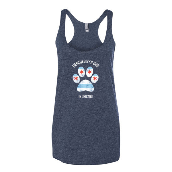 Rescued by a Dog - Women's Tank Top -  Tank Tops - 4 Paws Merch