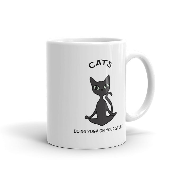 Black Lotus Cat Mug - 11oz - 4 Paws Merch - 1