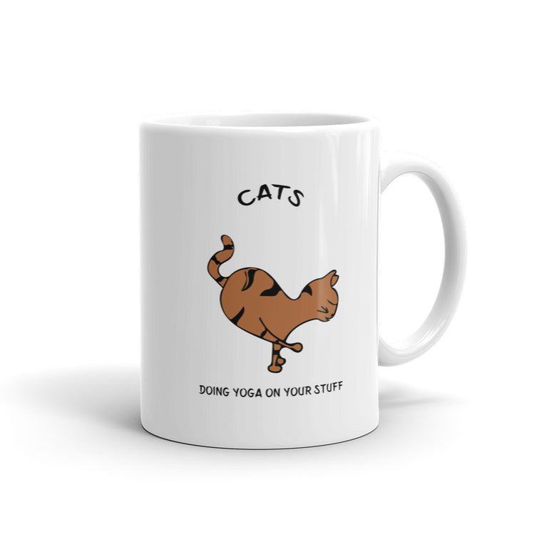 Orange Cat Shoulder Balance Mug -  Mugs - 4 Paws Merch