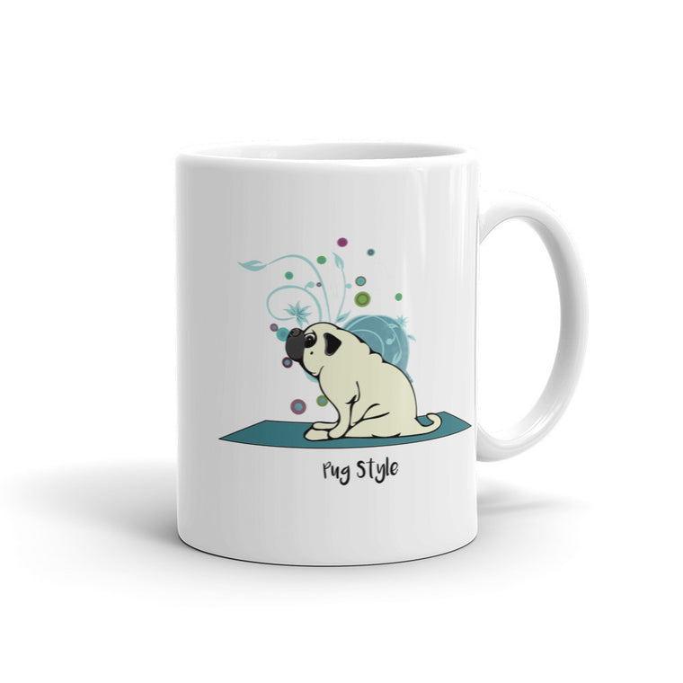 Seated Pug Mug - 11oz - 4 Paws Merch - 1
