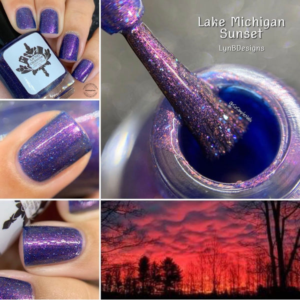 "Lake Michigan Sunset from the ""Pleasant Peninsula"" Collection 5-free 15ml"