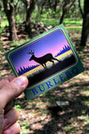 Scenic Deer Sticker - 10 Pack