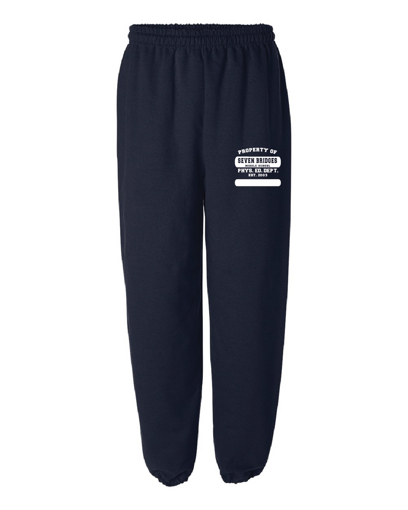 Seven Bridges MS Physical Education Sweatpants with Elastic Cuffs