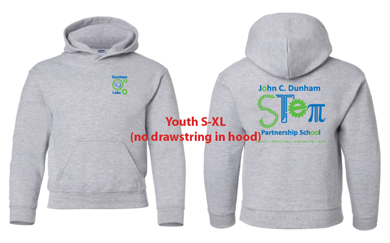 JCD STEM Classic Gray Pullover and Zippered Hooded Sweatshirts for Kids