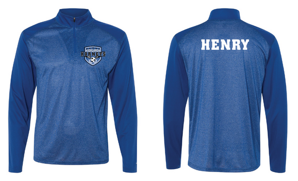 Highlands MS Soccer Pro Heather Quarter-Zip Pullover with Name