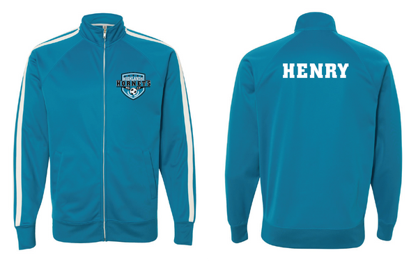 Highlands MS Soccer Unisex Poly-Tech Full-Zip Track Jacket with Name