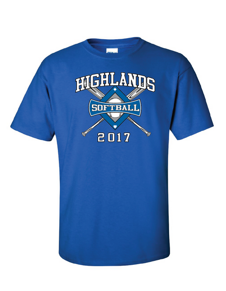 Highlands MS Softball Short-sleeve T-shirt