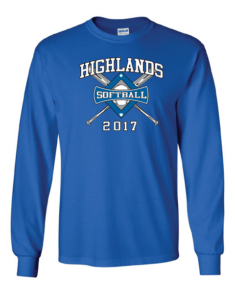 Highlands MS Softball Long-sleeve T-shirt