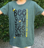 """Bee The Change"" youth tees"
