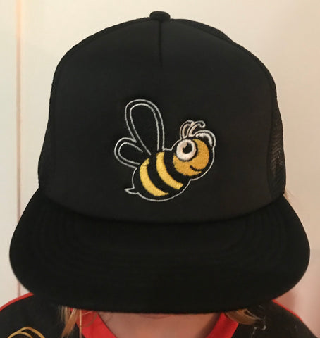 Bee Embroidered Trucker Hat