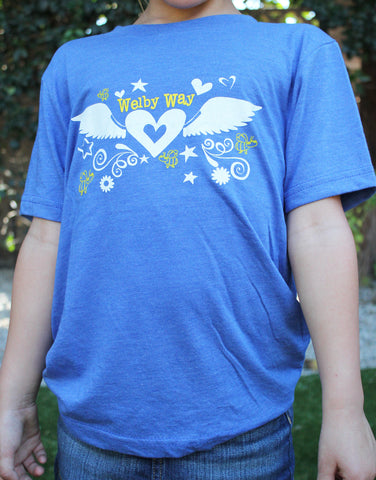 Winged Heart Girls Tee-Adult & Youth