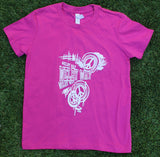 Pink Peace Tee Youth