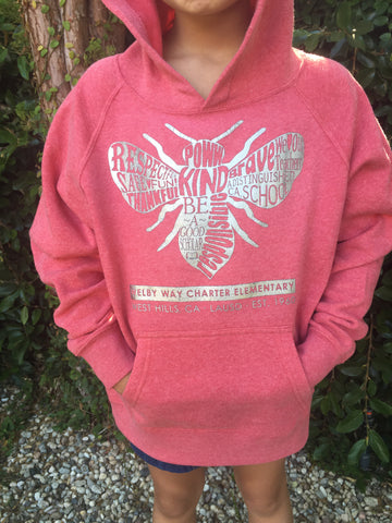 Bee Silhouette Hoodie YOUTH (2 colors)