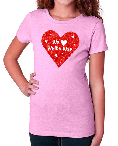 We Love Welby Glitter tees