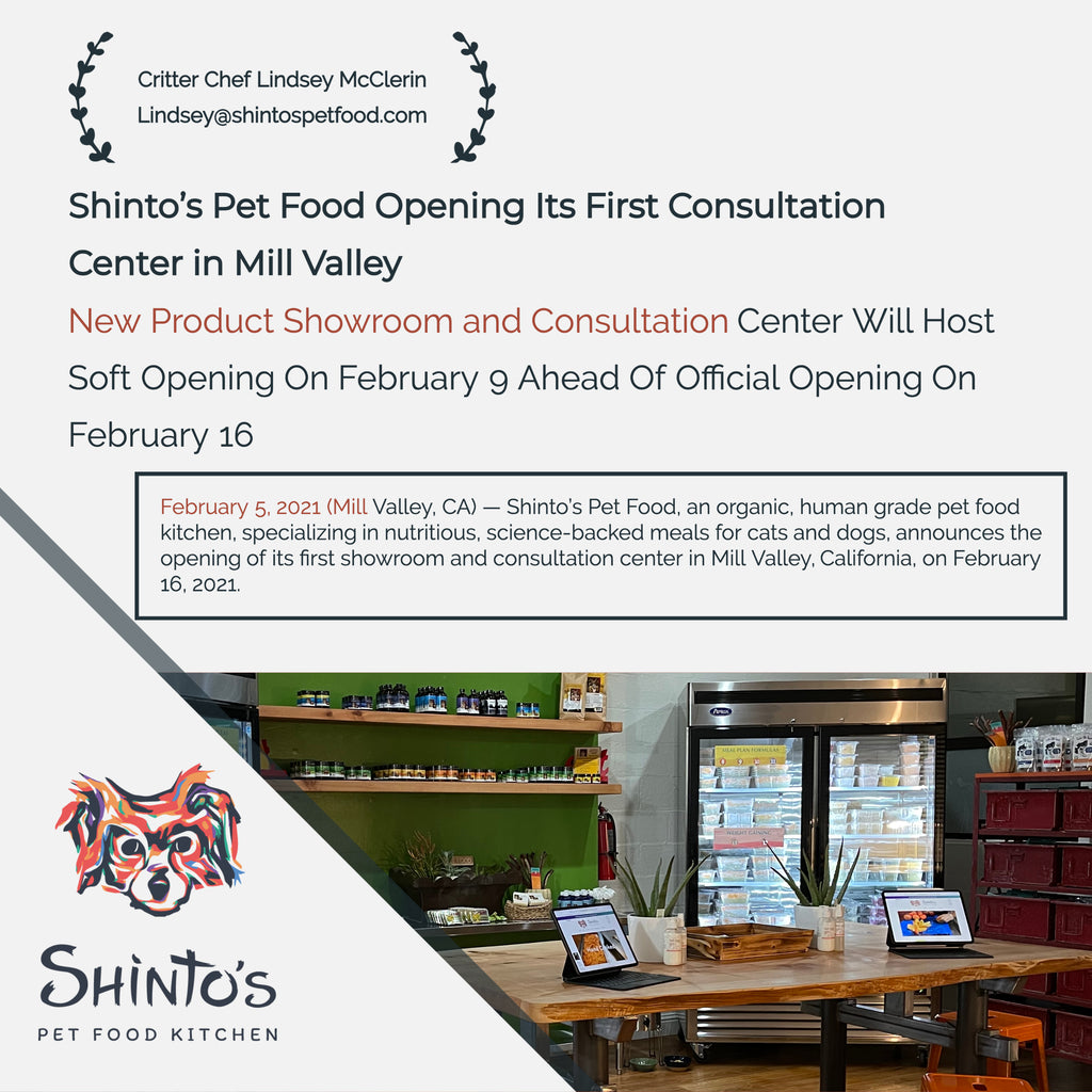 Shinto's Pet Food Opening Its First Consultation Center in Mill Valley