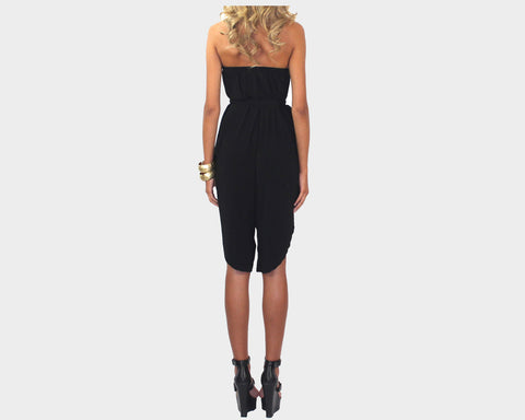 Black Strapless Jumpsuit - The Capri