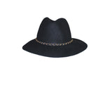 Faux Wool Black Hat - The Upper East Side