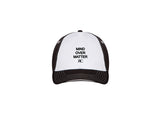 White and Black Baseball Cap - Unisex - MIND OVER MATTER